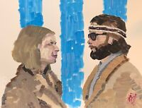 Abstract Portrait Roya Tenenbaums Margot Richie Movie Wall Art Original Painting