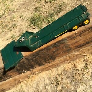 Vintage Ny-Lint Toys Tournahauler Trailer With Ramp . 1950s Green Flatbed & Ramp