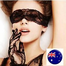 Lady Women Fetish Foreplay Eye Mask Cover Black Lace Party Costume Gloves
