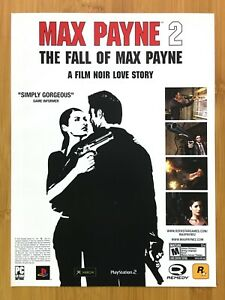 Max Payne 2: The Fall of Max Payne PS2 Xbox PC 2004 Print Ad/Poster Official Art