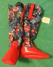 """Red Sparkle & July 4th Stars Cowboy Boots for 36"""" My Size Barbie Doll MYBT67"""