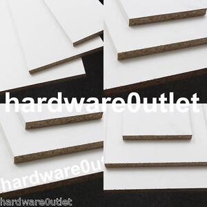 SHELVING White Melamine Faced Chipboard Conti Board -15mm Twin Slot Shelving