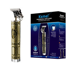 Kemei 1974a Metal Pro T-OUTLINER Cordless Trimmer Wireless Portable Hair Clipper