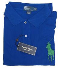 Ralph Lauren Mens Solid Big Pony Blue Green Purple Grey Polo Shirt 3X 4X 5X 6X