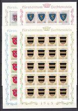 Postfrische Briefmarken aus Liechtenstein mit Flaggen-und Wappen-Motiv