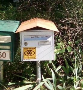 TOIT de boite aux lettres artisanal letters box roof