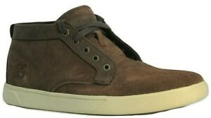 Mens Classic Casual Smart Timberland Soft Leather Brown Suede Mid Shoes Size 7