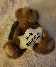 Boyds Bear 1988 - 2004 Brown Bear Lil' Dickens 90% Angel Plush Doll 8""