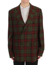 NEW $500 BENCIVENGA Blazer Bordeaux Green Wool Double Breasted IT54 / US18 /3XL
