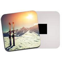 Skiing Fridge Magnet - Skis Snow Mountains Snowboarding Skier Cool Gift #8112