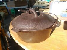 number 8 cast iron dutch oven hammered