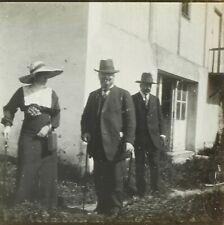 FRANCE Mode Habits Hommes Femmes Hiver 1912, Photo Stereo Plaque Verre VR2L12n11