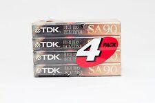 4 Pack TDK SA Type II 90 Min Audio Cassette Brand Unused Sealed Japan