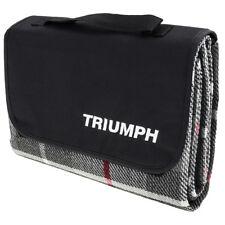 "Triumph logo Blanket Waterproof 51x70"" Grey acrylic Foam layer PEVA backing NEW"