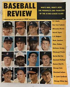 1959 Baseball Review Magazine Mickey Mantle,Yankees,Nice! (B135)