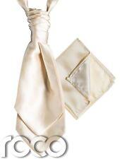 Mens Satin Wedding Ruche Cravat Tie with hankys, Cravat for Mens, Mens Cravats