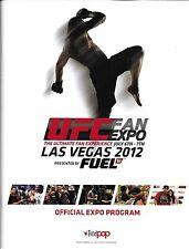 UFC 2012 Fan Expo Official Event Program Magazine Las Vegas 148 on Fuel TV 4 149