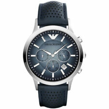 Emporio ARMANI Renato Leather Chronograph Mens Watch AR2473
