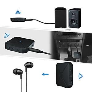 Blue tooth 5.0 Sender Empfänger Drahtloser A2DP Audio 3.5mm Jack Aux Adapter DE