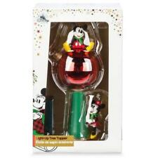 Disney Store Mickey & Minnie Mouse Light Up Ornament Christmas Tree Topper 2017
