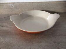 Plat Rond 16 Cm N 3  fonte émaillée Le Creuset Orange Cuisine Vintage