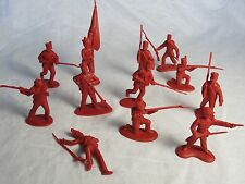 Classic Toy Soldiers/CTS Alamo Mexican attackers set #1 (Red) X12 1/32nd