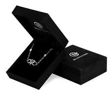 Bracelet 925 Sterling Silver Infinity Heart Cubic Zirconia Jewelry Women Gift