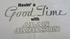 Having A Good Time With Alan Jackson Local Crew Tour Concert Shirt Xl Cream