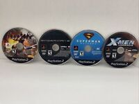 Superhero Lot Of 4 Ps2 Spiderman 3 Iron Man X-Men Legends Superman Disc only