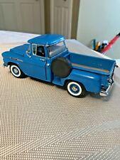 Danbury-Mint-1958-CHEVROLET-APACHE-BLUE-Pickup-Truck-1-24-SCALE