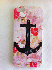 Black Anchor with Vintage Floral Background Printed iPhone 5 5s Case for Apple