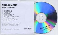 NINA SIMONE Sings The Blues 2006 UK 13-trk promo test CD bonus tracks