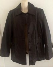 Target brown leather coat Size 14