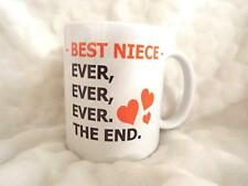 Best Niece Ever Ever The end 11oz Ceramic Mug Birthday Gift Xmas Christmas Gifts