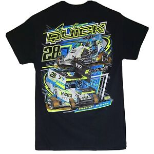 Austin Quick #28 World Of Outlaw Size Small Sprint Car T-Shirt Racing Dirt Track