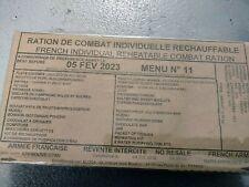 #2022# Menu 11 , French MRE IRP Military Food RCIR 24H MENU Combat Box US France
