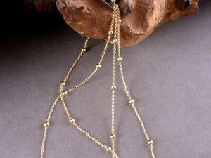 Kette 925 Sterling Silber vergoldet Kugelkette Kugeln gold Kugel 40 - 50 cm NEU