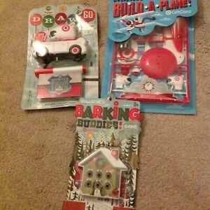 Three Target Gift Cards - Build plane, Barking buddies, Draw & Go