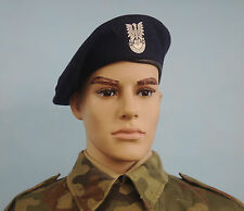 POLISH ARMY TANK CREW BERET - Warsaw Pact - moro time HAT CAP size 54cm New 1989