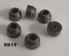 """Recessed Tapered Rubber Bumper Feet OD: 5/8"""" Height: 3/8"""" 12/pack RB19"""