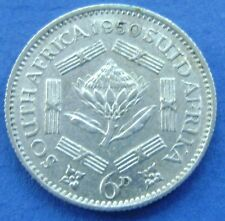 Zuid Afrika - South Africa 6 Pence 1950 George VI Silver - KM# 36.1 - nice.