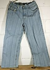 Enyce Denim Jeans Pants Men's 32W 32L CA 30617 Stripes Light Blue Textured F4