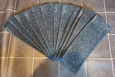 12x Stair Pads/Treads 61cm Wide Grey Fleck Rubber Back Super Heavy Duty #10,104