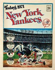 New York Yankees Today's 1971 Official Picture Stamps Book by Dell