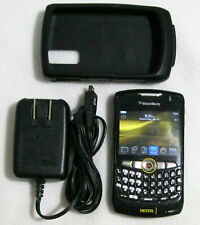 BlackBerry Curve Black NEXTEL Smartphone Protective Case Charger Screen Cracked