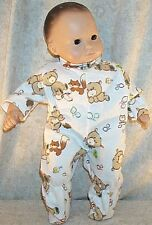 """Doll Clothes Baby Made 2 Fit American Girl 15"""" inch Boy Pajamas Fox Bears"""