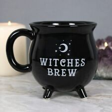 Witches Brew Cauldron Mug Gift Boxed Novelty Black Coffee Cup
