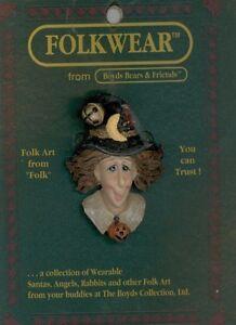 NIP Boyds Bears Folkwear 26304 Pinback Esmeralda the Witch