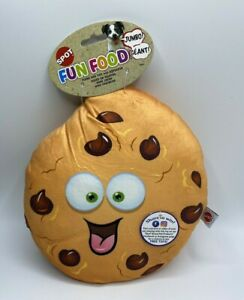 Jumbo Sized 11 inch Cookie Plush Dog Toy With Squeaker Fun Food