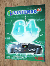 Nintendo publicidad ad Flyer n64 Super Mario Kart 64 Star Fox Lylat Wars Wave Race